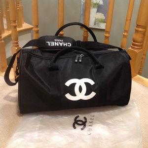 Chanel VIP Black Nylon duffle bag Travel bag